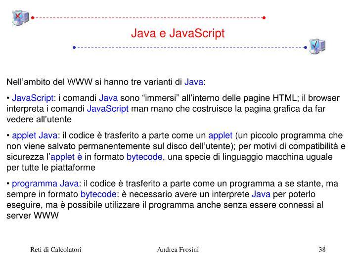 Java e JavaScript