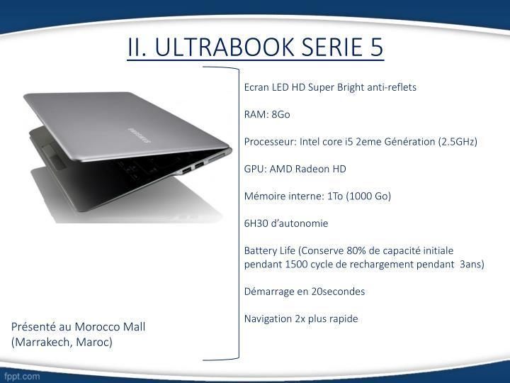 II. ULTRABOOK SERIE 5