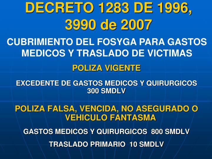 DECRETO 1283 DE