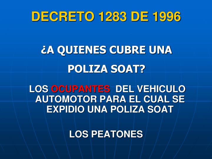 DECRETO 1283 DE 1996