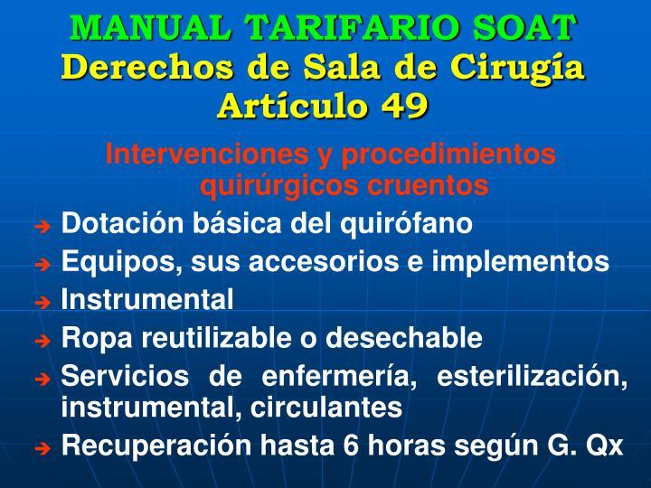 MANUAL TARIFARIO SOAT