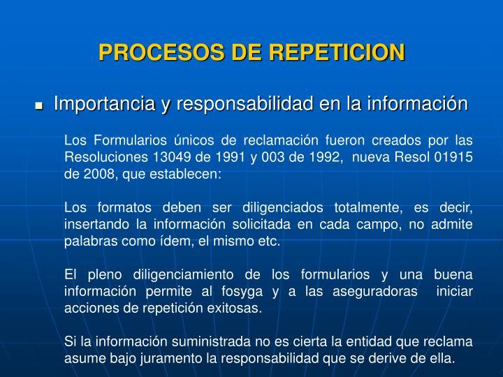 Importancia y responsabilidad en la información