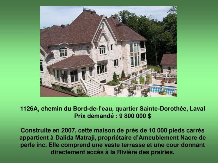 1126A, chemin du Bord-de-l'eau, quartier Sainte-Dorothée, Laval