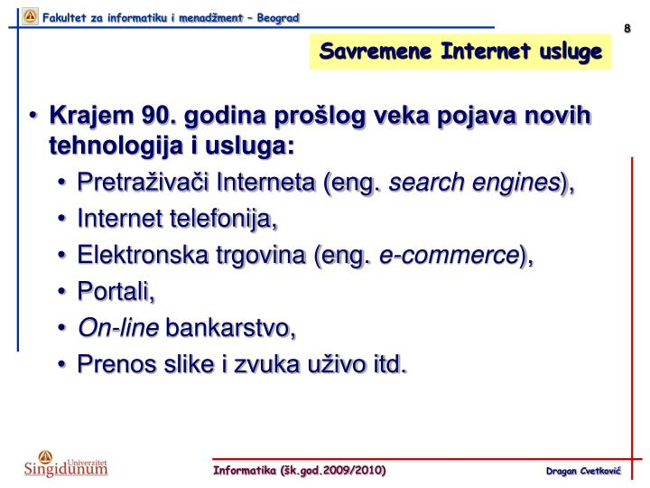 Savremene Internet usluge