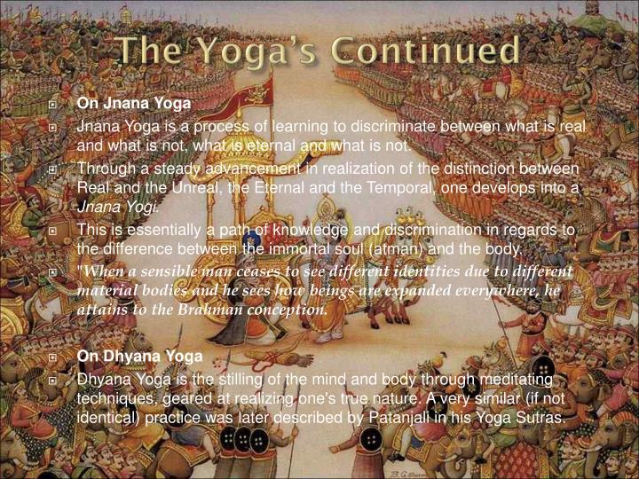 On Jnana Yoga