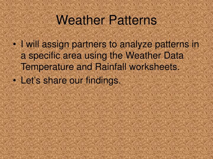 Weather Patterns