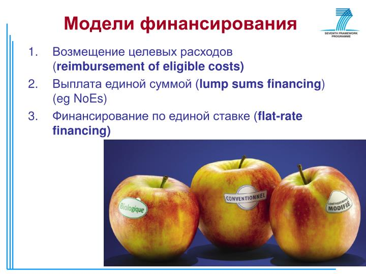 Модели финансирования
