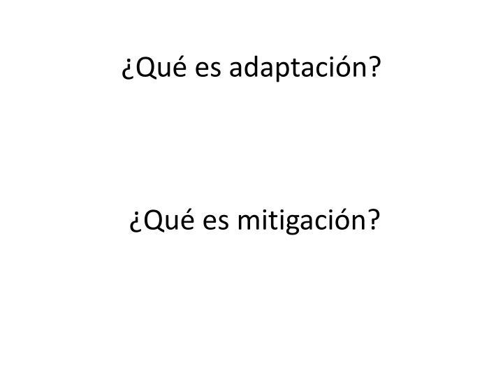 ¿Qué es adaptación?