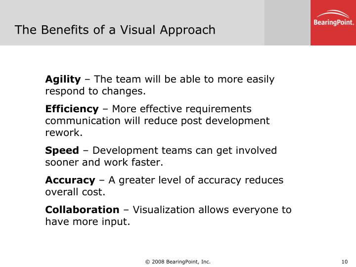 The Benefits of a Visual Approach
