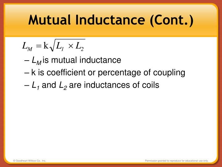 Mutual Inductance (Cont.)