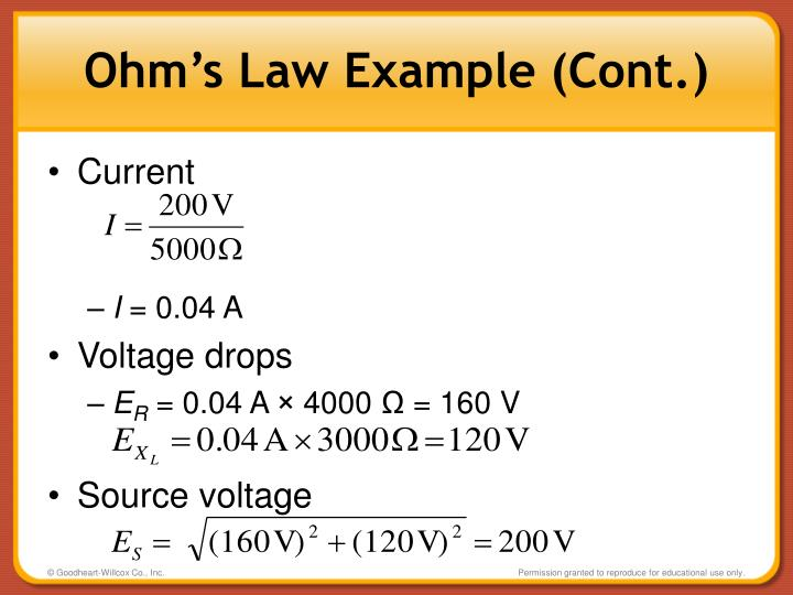 Ohm's Law Example (Cont.)