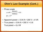 ohm s law example cont1