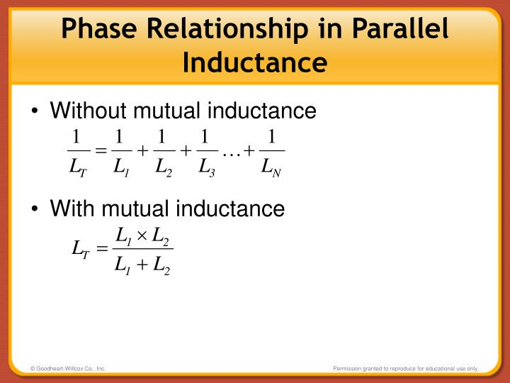 Phase Relationship in Parallel Inductance