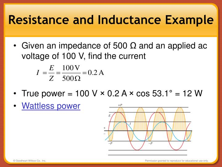 Resistance and Inductance Example