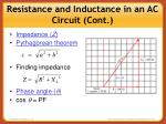 resistance and inductance in an ac circuit cont