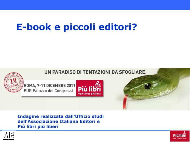E-book e piccoli editori?