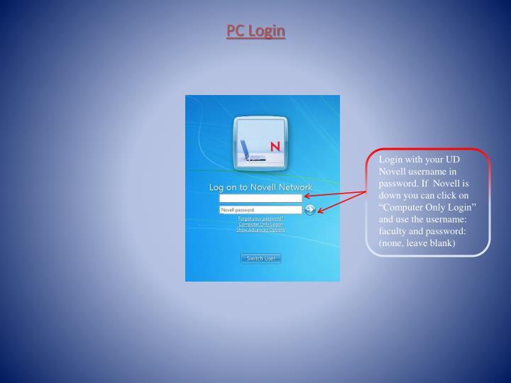 PC Login