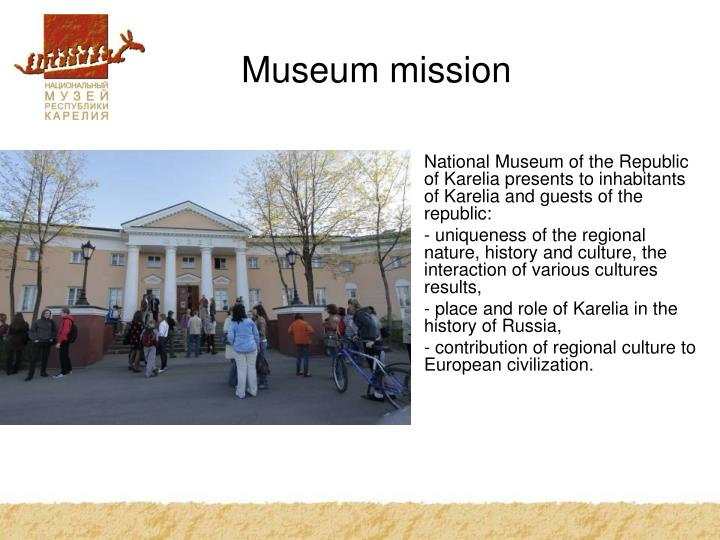 Museum mission