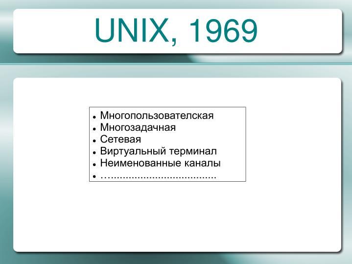 UNIX, 1969