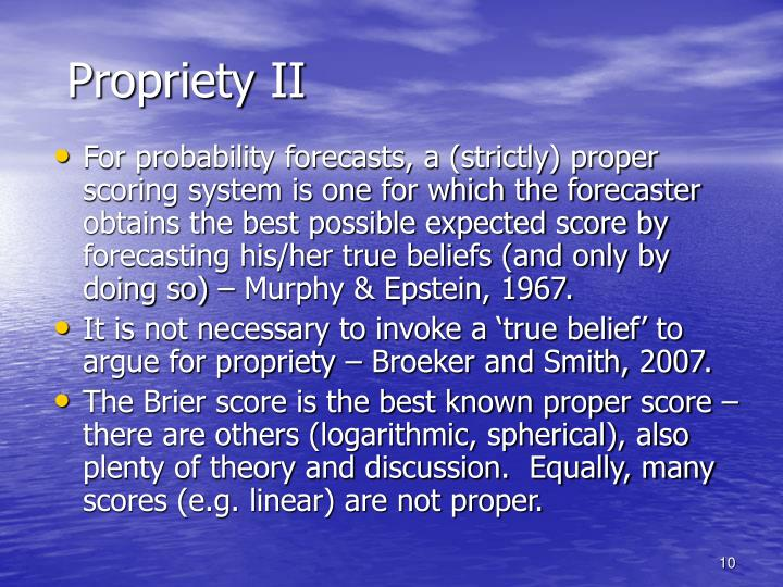 Propriety II