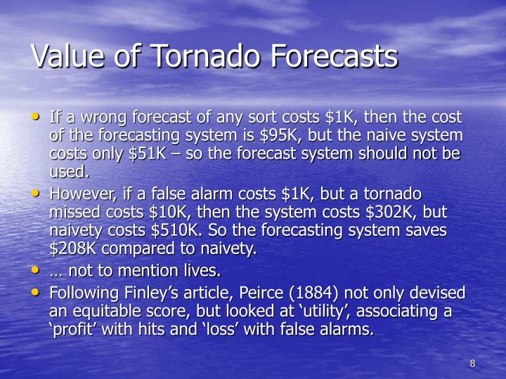 Value of Tornado Forecasts