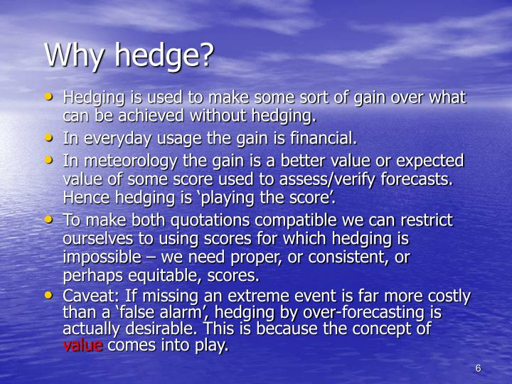 Why hedge?