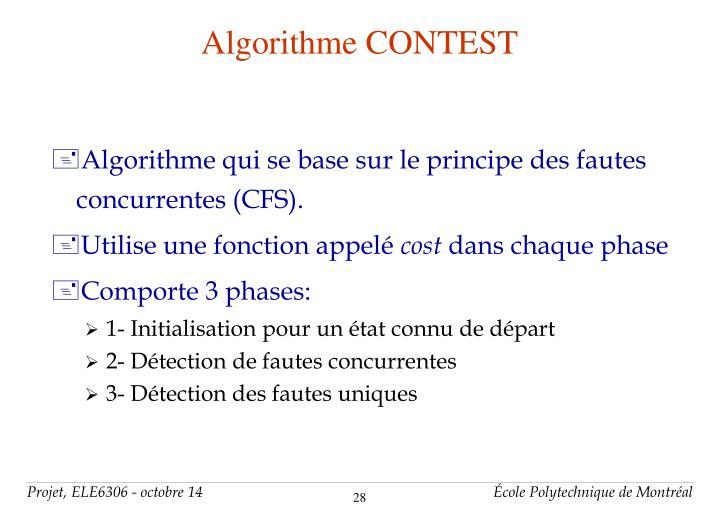 Algorithme CONTEST