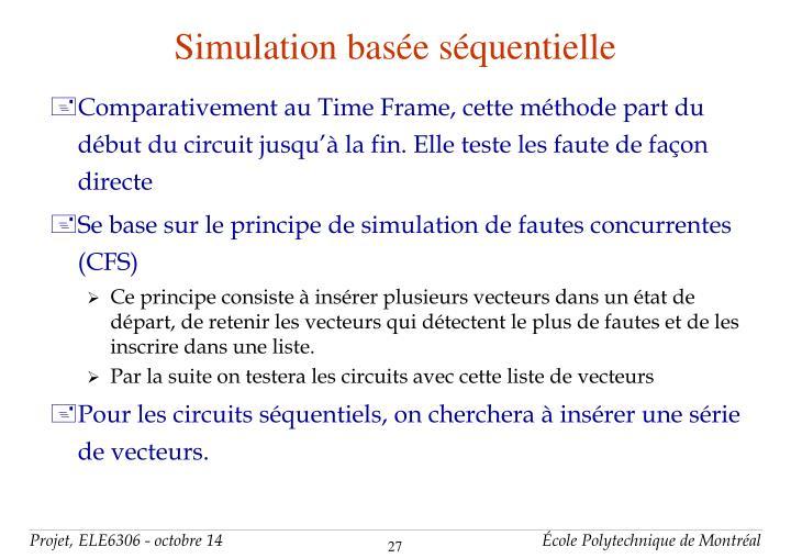 Simulation basée séquentielle