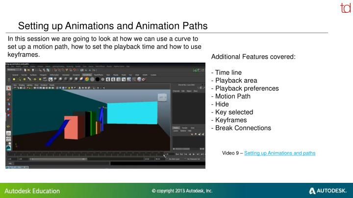 Setting up Animations and Animation Paths