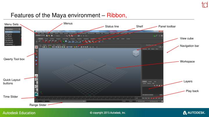 Features of the Maya environment –