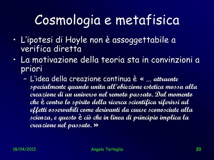 Cosmologia e metafisica