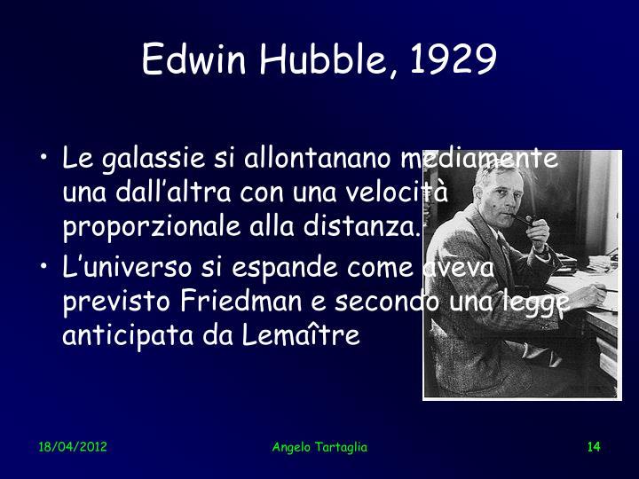 Edwin Hubble, 1929
