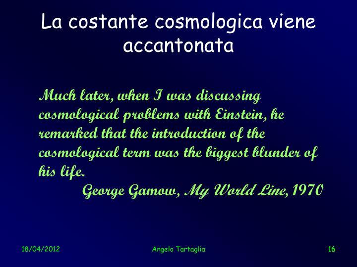 La costante cosmologica viene accantonata