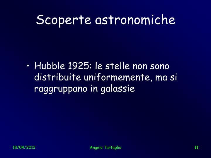 Scoperte astronomiche