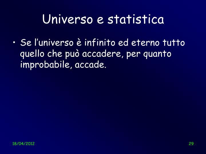 Universo e statistica