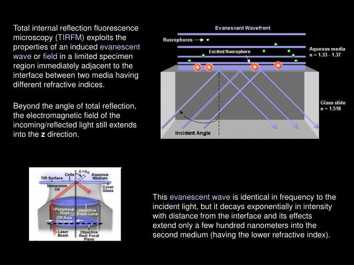 Total internal reflection fluorescence microscopy (