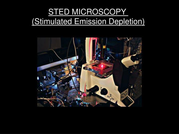 STED MICROSCOPY