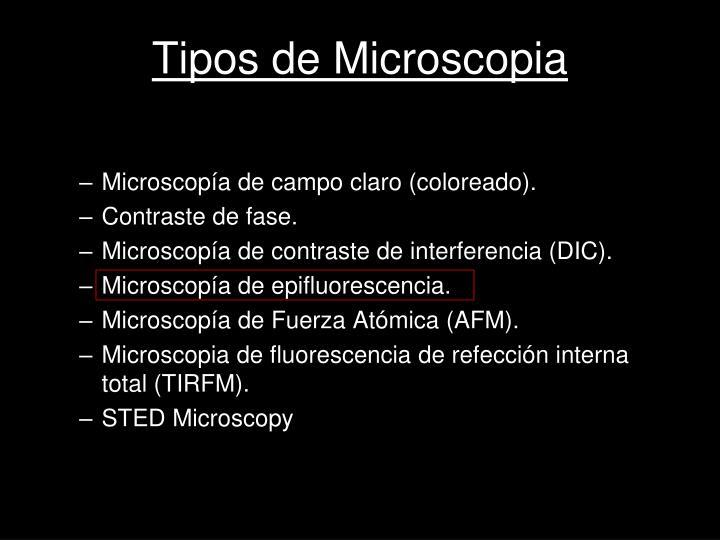 Tipos de Microscopia