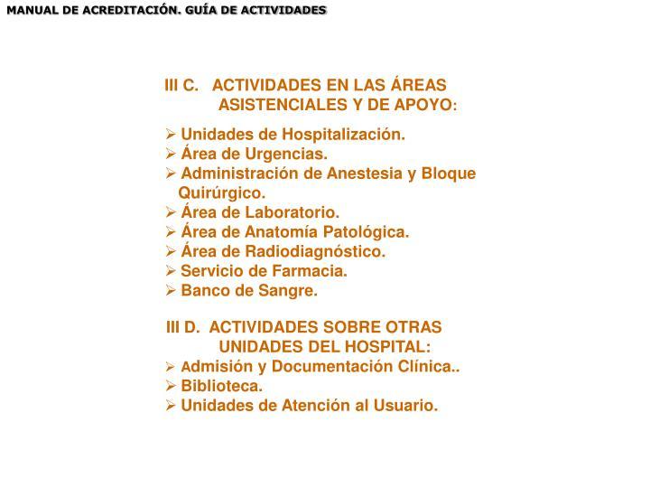MANUAL DE ACREDITACIÓN. GUÍA DE ACTIVIDADES