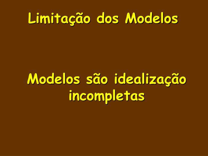 Limitação dos Modelos