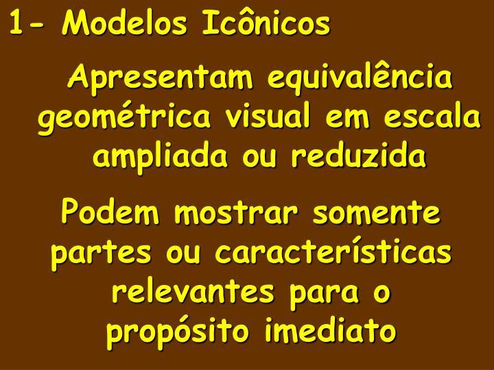 1- Modelos Icônicos