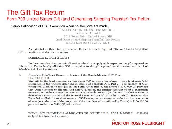 Tax Return Gift Tax Return Form