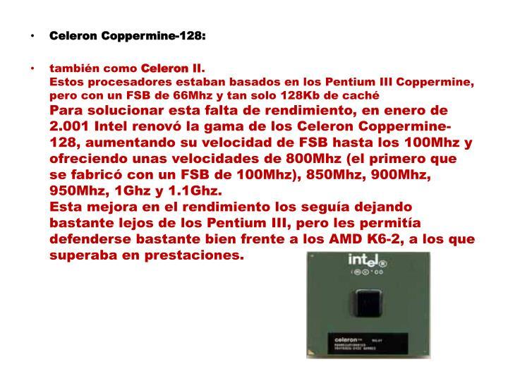 Celeron Coppermine-128:
