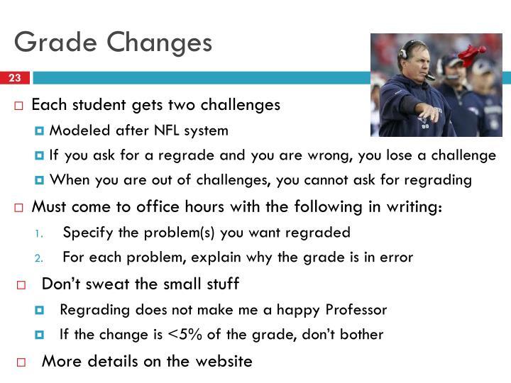 Grade Changes