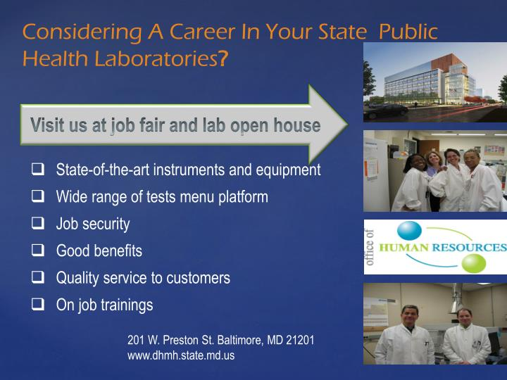 Visit us at job fair and lab open house
