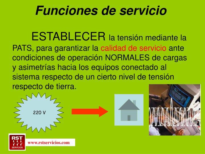 Funciones de servicio