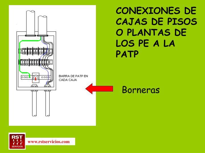 CONEXIONES DE CAJAS DE PISOS O PLANTAS DE LOS PE A LA PATP