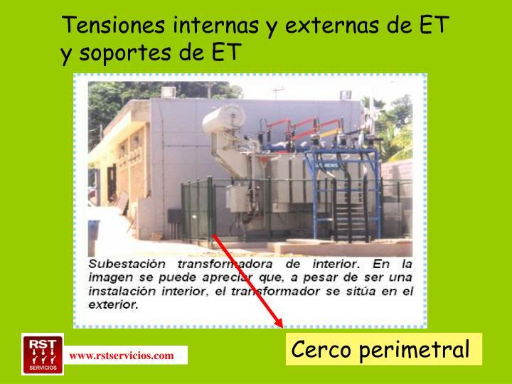 Tensiones internas y externas de ET y soportes de ET