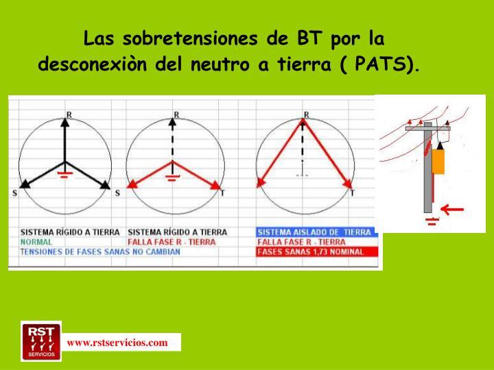 Las sobretensiones de BT por la desconexiòn del neutro a tierra ( PATS).