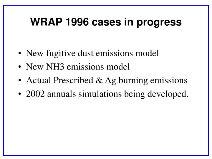 New fugitive dust emissions model